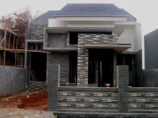 Desain Rumah 2 Lantai Minimalis Ini Cukup Sederhana Lebih Dari Sekadar Dokumen Contoh Teras Rumah Dengan Batu Alam Rum Di 2020 Rumah Batu Rumah Minimalis Minimalis