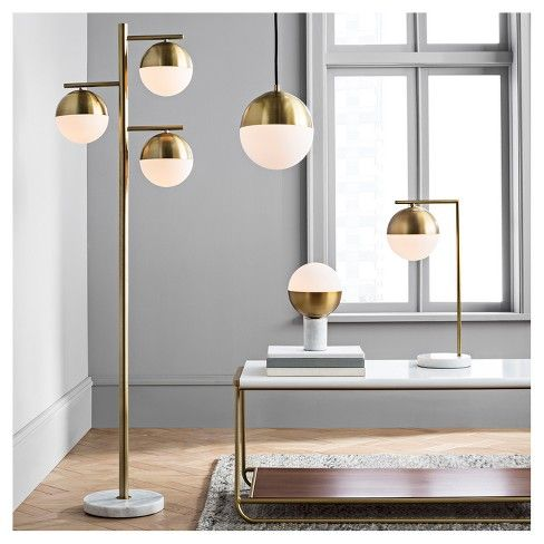 Geneva Glass Globe With Marble Base Task Lamp Brass Includes Cfl Light Bulb Project 62 Globe Floor Lamp Brass Floor Lamp Glass Floor Lamp