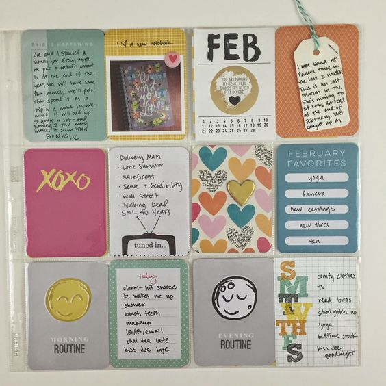 Mrs Crafty Adams: Project Life - February 2015  - Studio Calico Cirque Project Life Kit