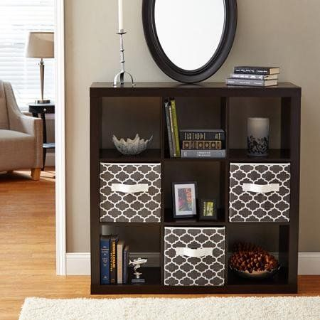 9 Cube Storage Square Bookcase Espresso Better Homes Gardens