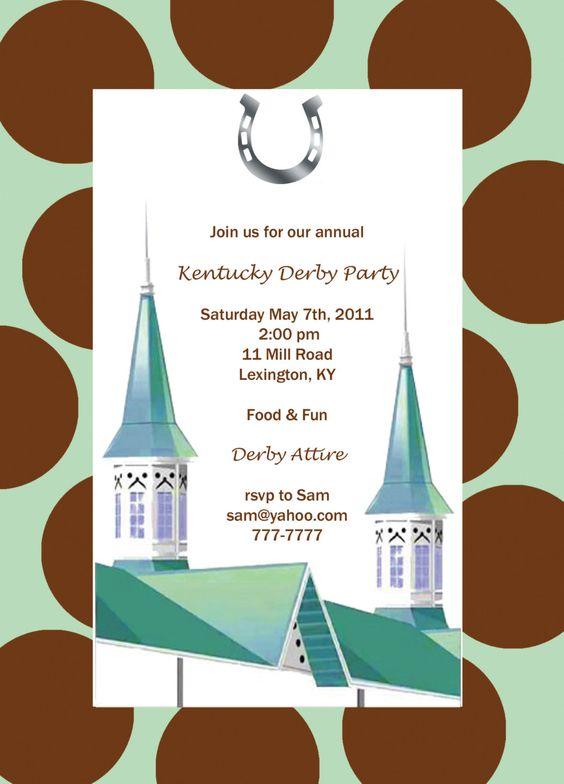 kentucky derby horse race invitation birthday party
