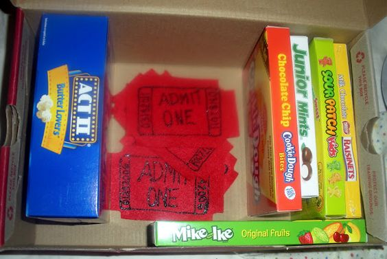 This is the best idea for a gift!  Codes for Red Box movies and candy.