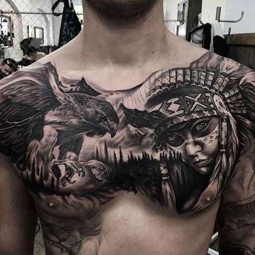 101 Best Chest Tattoos For Men Cool Ideas Designs 2020 Guide Chest Tattoo Men Cool Chest Tattoos Chest Piece Tattoos