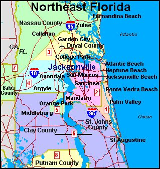 Jacksonville Fl Google Search First Coast Pinterest - Jacksonville map