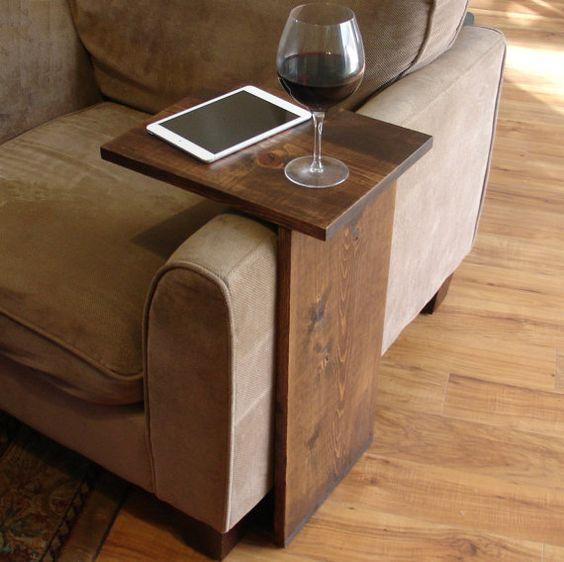 Sofa Chair Arm Rest Tray Table Stand von KeoDecor auf Etsy