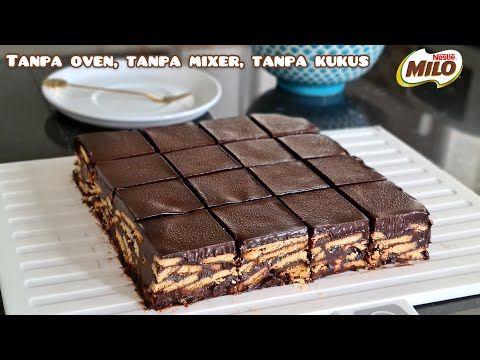 Tanpa Oven Tanpa Mixer Tanpa Kukus Tanpa Telur Cake Batik Milo Dengan Topping Coklat Lumer Youtube In 2021 Sweets Desserts Food Baking