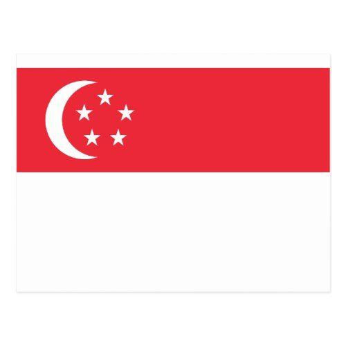 Flag of Singapore - 新加坡国旗 - Bendera Singapura Postcard   Zazzle.com    Singapore flag, Flag, Postcard