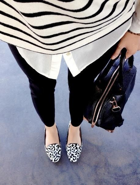 black / white / animal print: