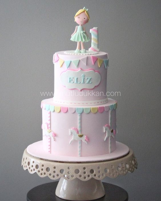 Creative Birthday Cake Ideas For Girls Girls First Birthday Cake Baby Birthday Cakes Baby Girl Birthday Cake
