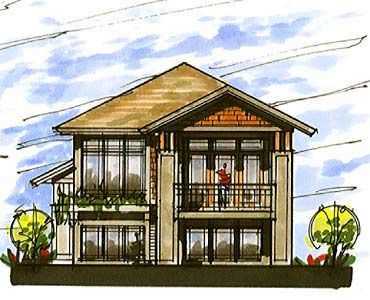 Coastal home plans lakefront craftsman design for Coastal craftsman house plans
