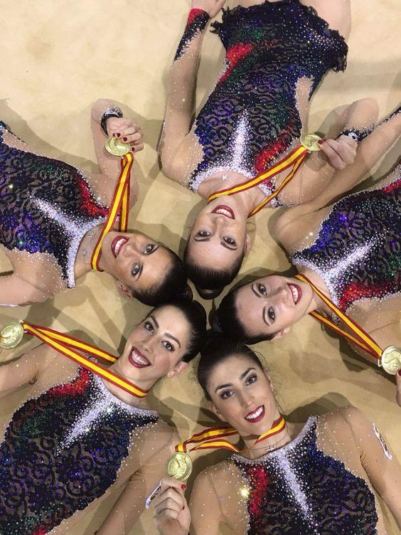 Equipo de gimnasia rítmica español. Chicas de oro