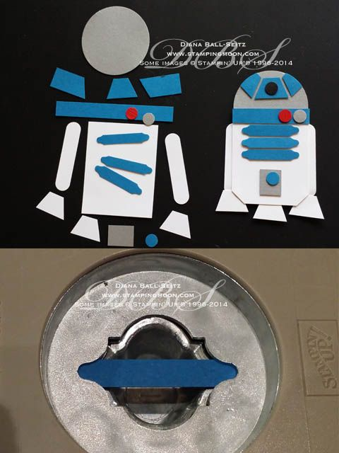 www.stampingmoon.com R2D2 Punch Art                                                                                                                                                      More