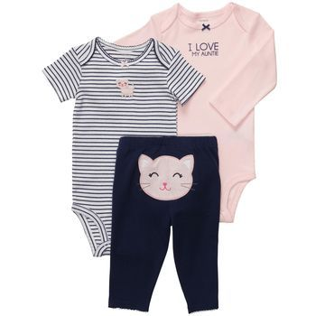 3-piece Bodysuit Pant Set (Carter's nb-24m)
