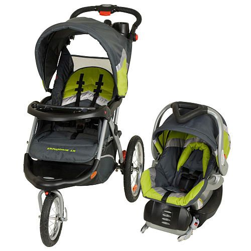 Jogging stroller and convertible car seat set
