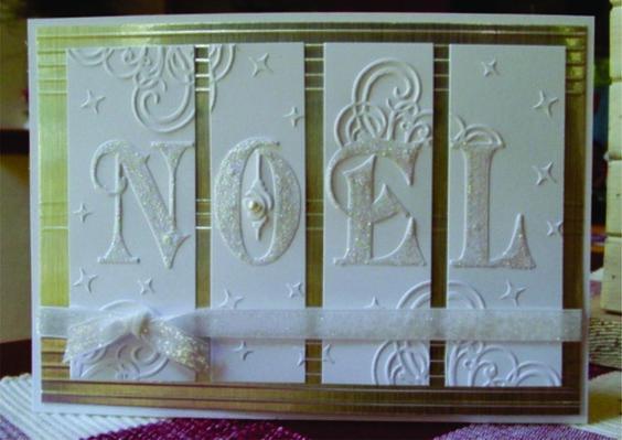 Noel Embossing Folder Crafts TOO Embossing Folders CTFD3019 Holidays Christmas | eBay