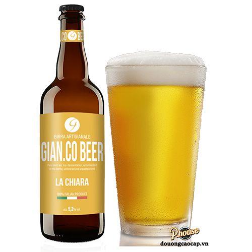 Bia Gian.Co La Chiara 5.2% - Chai 750ml - Bia Ý Nhập Khẩu TPHCM