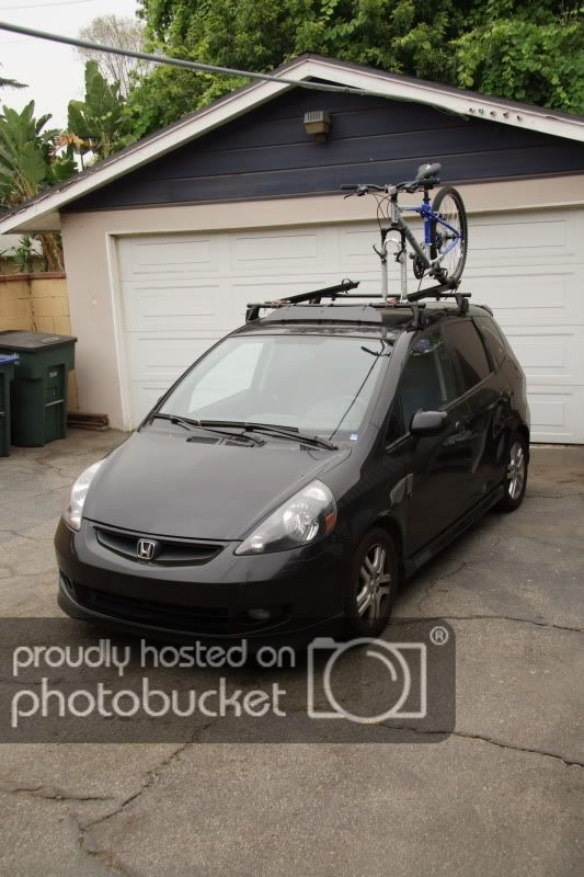 Bike Rack Roof Hitch Thule Yakima Unofficial Honda Fit Forums Honda Fit Bike Rack Yakima