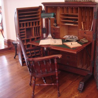 William S. Wooton Desk in The Queen Anne Mansion in Eureka Springs, Ark.