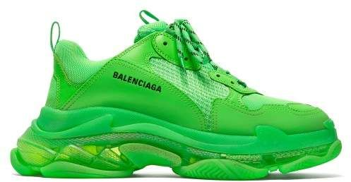 Neon sneakers, Sneakers, Balenciaga