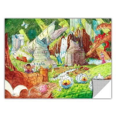 ArtWall ArtApeelz 'Sheep Forest' by Luis Peres Painting Print Removable Wall Decal Size: