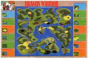Dragon Warrior I {World Map}