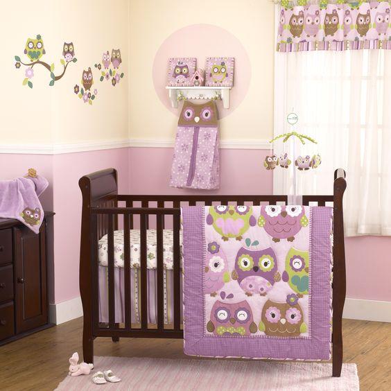 LOVE this set. purple + owl. Owl Wonderland Collection-Burlington coat factory