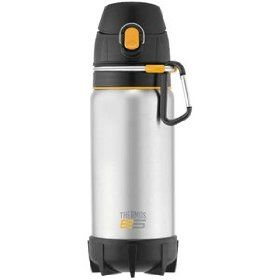 Thermos Element 5 22 ounce hydration bottle.  I was so excited bc I love my original hydration bottle , but dreamed of a clip. The only negative is that it may be too wide for my cup holder.  Excited to have something that will clip to my backpack.