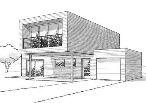 Parfait Dessin Architecture Maison Moderne And La Description In 2020 Architecture Sketchbook Architecture Concept Drawings Architecture Design Sketch