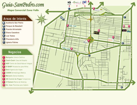 Mapa: Zona Valle Guia-SanPedro.com   otoño 2013