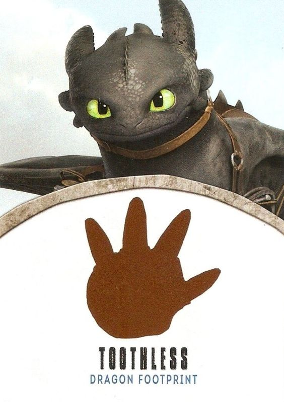 How to train your dragon footprint | English (US)