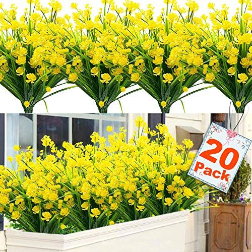 Uv Resistant Faux Outdoor Plastic, Artificial Flowers Outdoor Use