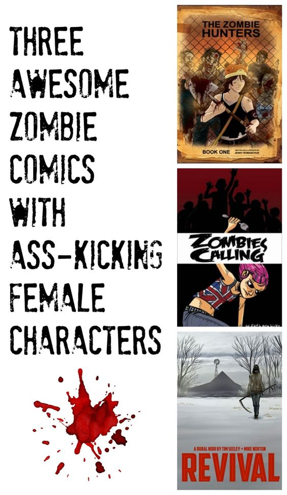 3 awesome zombie comics with ass-kicking female characters - a graphic novel list at Planet Jinxatron