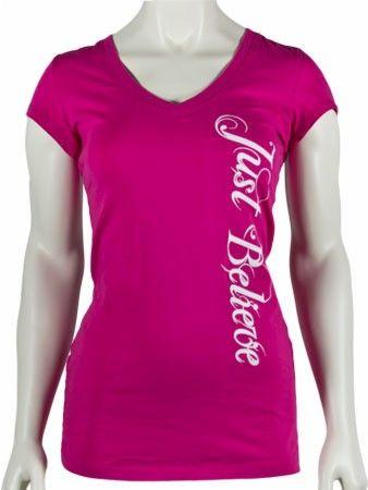 SamsonWear Women's Just Believe V-Neck - cancercare walk?