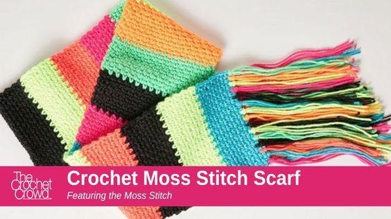 Crochet Stitches Moss Stitch : How to Crochet A Moss Stitch Scarf + Tutorial crochet patterns ...