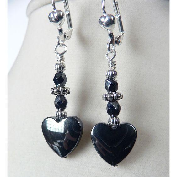 Palmtree Gems 'Zena' Hemalyke Heart Earrings
