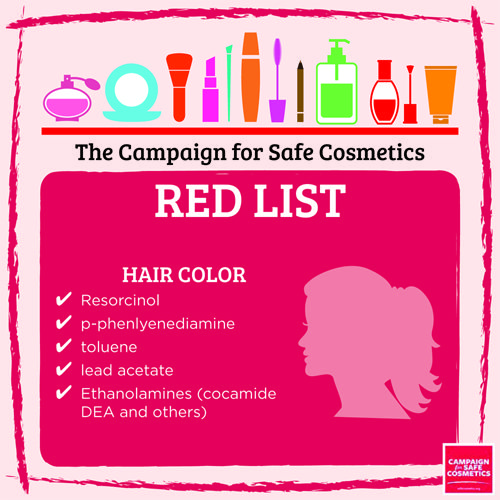 Redlist hair color:
