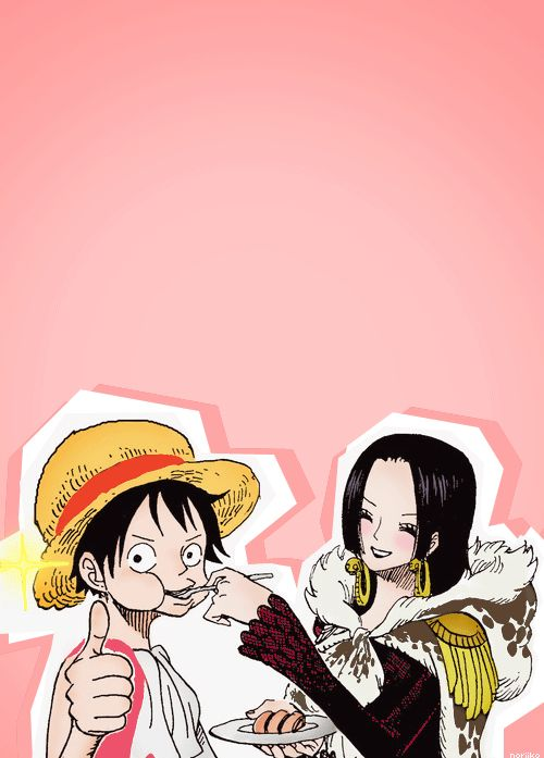 Monkey d luffy boa hancock the entire extent of their relationship is this what they call - One piece luffy x hancock ...