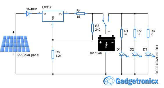 fed68306fa96b1487088cb25d7afcc44 solar powered led lights circuit diagram solar powered led light circuit diagram and schematic design solar street light wiring diagram at n-0.co