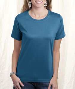 LA T Ladies' Combed Ring-Spun T-Shirt 3580 Teal