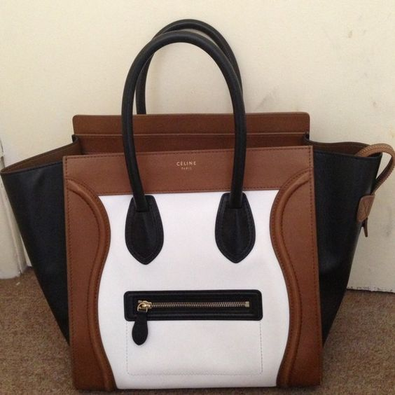 Celine mini luggage tri color authentic Selling used celine mini luggage  tri color. Few minor scratches but other than