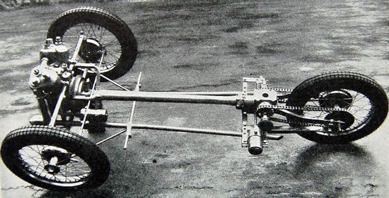 An early 2 speed chassis with rear quarterelliptic leaf