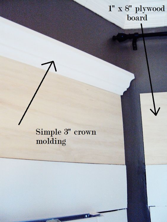tall crown moulding for windows