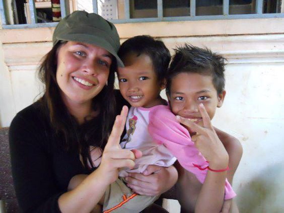 Lyndsey, a student at @New Mexico State University #volunteers in #Cambodia. #Review
