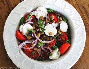 Salada caprese com lentilhas_F&F