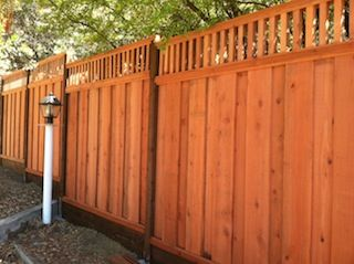 Redwood Piano Key Lattice Beauty Fence Fence Toppers Redwood Fence