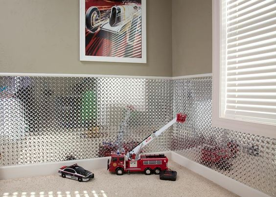 Cute Wall Panels : Diamond plate wall panel this would be so cute in my sons