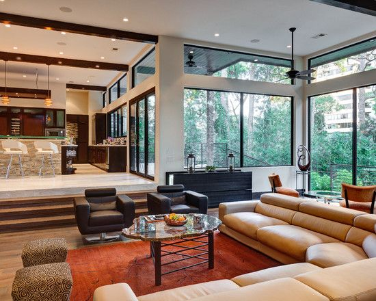 types of interior design - Sunken living room, Living rooms and Decor on Pinterest