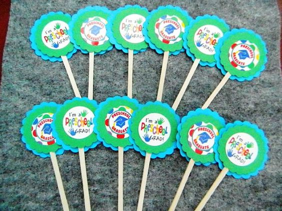 Preschool Graduation Cupcake Toppers by JandKKreations on Etsy, $5.00