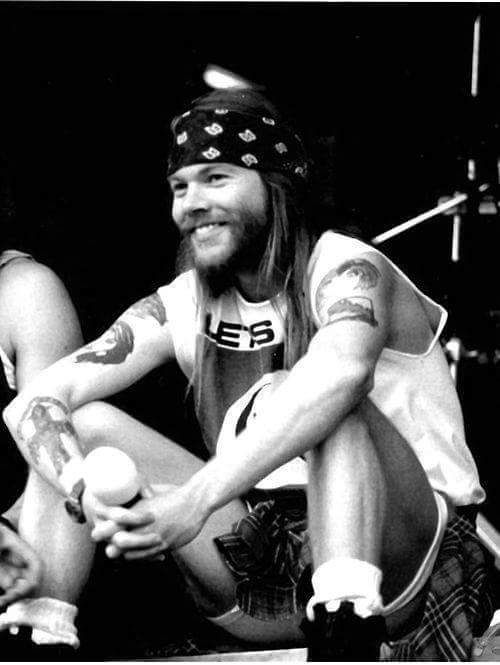 Axl Rose of Guns N' Roses, early '90s.                              …