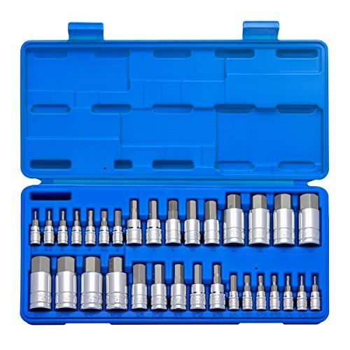 Neiko 10288a Master Hex Bit Socket Set S2 Steel 32 Piece Set Sae And Metric Socket Set Socket Wrench Set Metric Socket Set